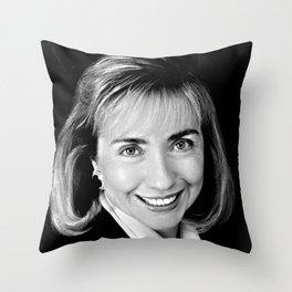 Black & white Portrait of HRC (1992) Throw Pillow