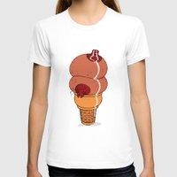 tits T-shirts featuring Milk Tits by Jeffrey Dekker