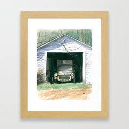 Morris In The Shed Framed Art Print
