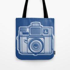 I Still Shoot Film Holga Logo - Reversed Blue Tote Bag