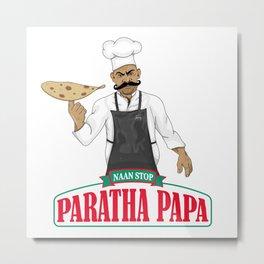 Paratha Papa Metal Print