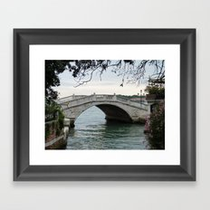 Venice bridge Framed Art Print