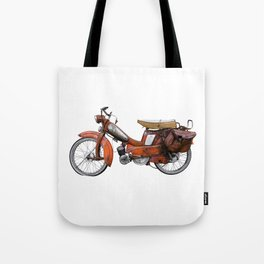 Vintage French Moped Tote Bag