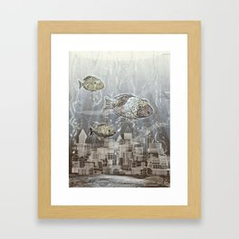 Deep in the Ocean Framed Art Print