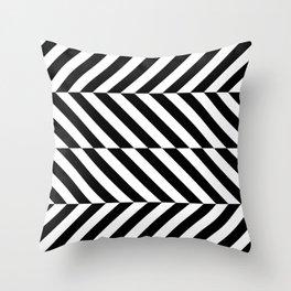 Black and White Op Art Design Throw Pillow