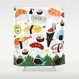 Sushi galore Shower Curtain