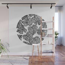 Geometric Tree Leaves Wall Mural