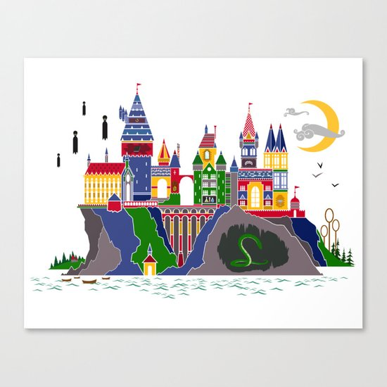 Pop Art Hogwarts Canvas Print