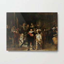 Rembrandt - The Night Watch Metal Print