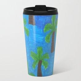 Palm Trees in the Ocean Travel Mug