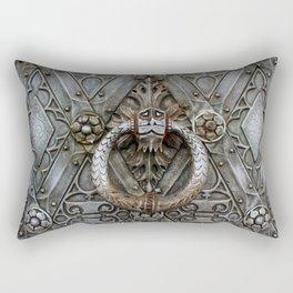 the door keeper Rectangular Pillow
