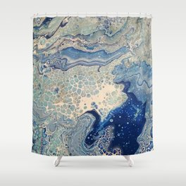 Blue Ray Shower Curtain