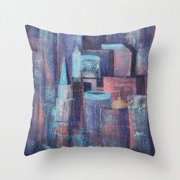 City at Dawn Throw Pillow