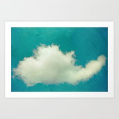 Genie in a Bottle.  Cloud Photography.  Turquoise Art Print