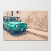 jeep Canvas Prints featuring Jeep by Kristi Coles