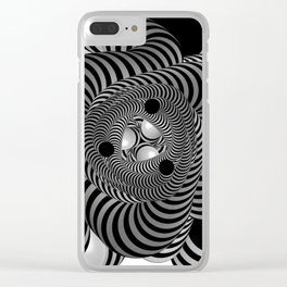 Black and White Abstract Design Clear iPhone Case