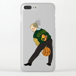 Hooping Crane Pin-up Clear iPhone Case