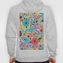 Colorful Vintage Spring Flowers Hoody