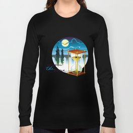 Sand-glass with southern landscape Long Sleeve T-shirt