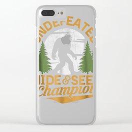 Bigfoot T-shirt Undefeated Hide & Seek Sasquatch Yeti Gift Clear iPhone Case