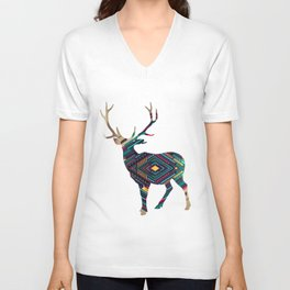 Deer abstract Unisex V-Neck
