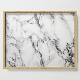 White Marble Texture Serving Tray