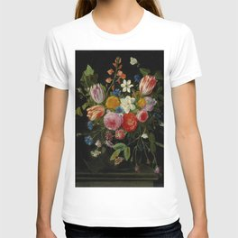 """Jan van Kessel de Oude """"Tulips, peonies, chicory, carnations, cherry blossom and other flowers"""" T-shirt"""