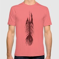 The Fishy Eskeleto LARGE Pomegranate Mens Fitted Tee