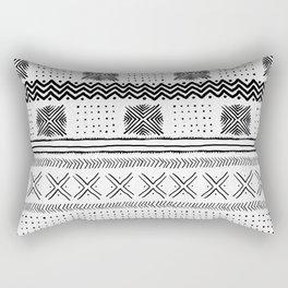 Mud Cloth Geometric Stripe Rectangular Pillow