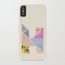 Collaged Tangram Alphabet - H iPhone Case