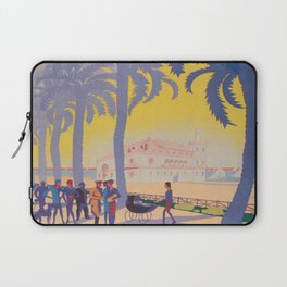 Alicante, Spain Vintage Travel Poster Laptop Sleeve