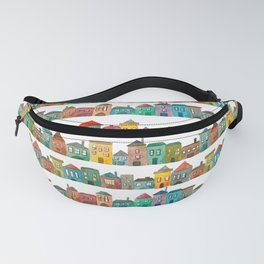 Watercolor Town Fanny Pack