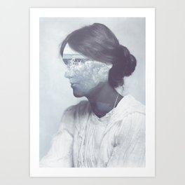 The Waves (Virginia Woolf's portrait) Art Print