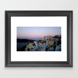 Dawn of Santorini Greece Framed Art Print