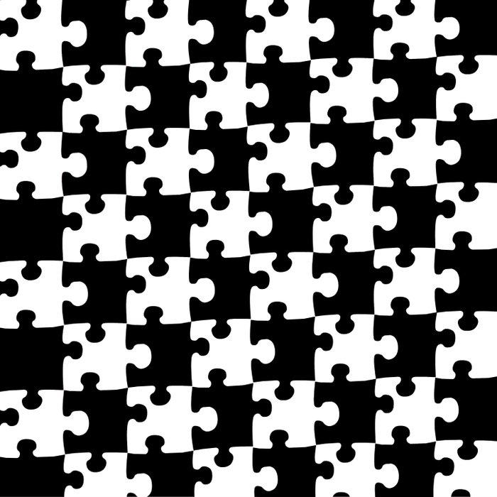 Checkerboard Puzzle Pieces Duvet Cover