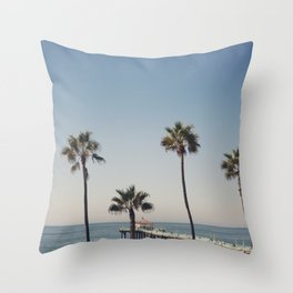 Manhattan Beach Pier Throw Pillow