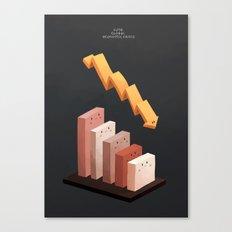 Cute Global Economic Crisis Canvas Print
