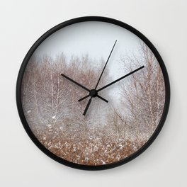Colors of Winter Wall Clock