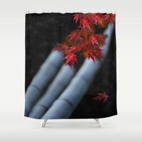 bamboo Shower Curtains featuring Bamboo by Anne Seltmann