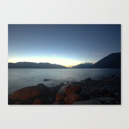 Lakes of BC by Night Canvas Print