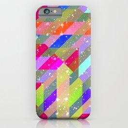 Multicolored Party Geo Design Print iPhone Case