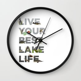 Live Your Best Lake Life Wall Clock