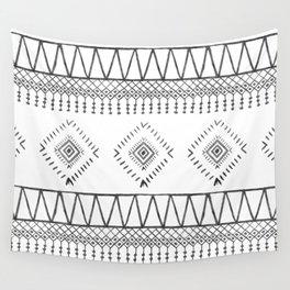 Gray Boho Aztec Wall Tapestry