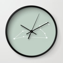 Leo Zodiac Constellation - Sage Wall Clock