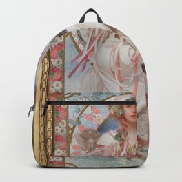 Salvia, Alphonse Mucha Backpack