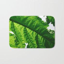 Torn Large Leaf Green Leaf Bath Mat