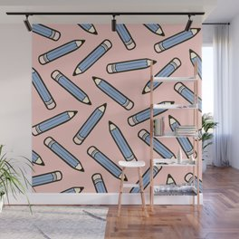 Pencil me in Rose Quartz and Serenity Wall Mural