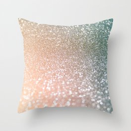 Rosequartz Rose Gold glitter - Pink Luxury glitter sparkling design Throw Pillow