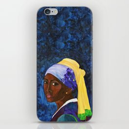 Girl with Gold Earring iPhone Skin