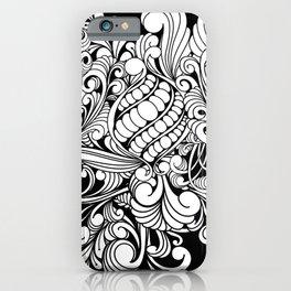 Elegant zentangle design iPhone Case